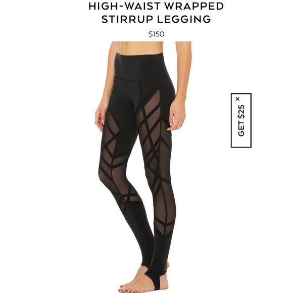 8cdeda1ee6297 ALO Yoga Pants | Alo High Waist Wrapped Stirrup Legging | Poshmark